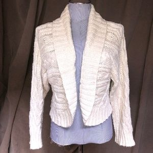 Ralph Lauren Blue Label cream shawl neck silk line